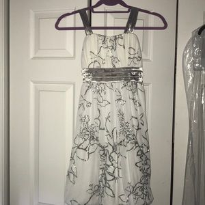 Special Occasion Silver And White Dress